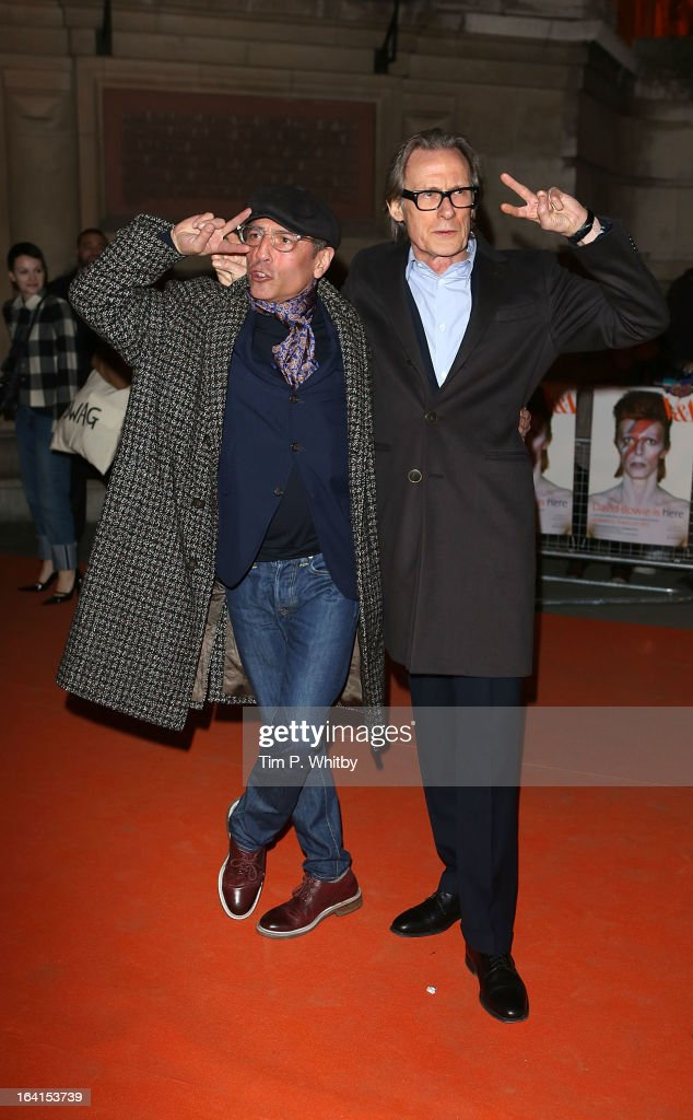 <a gi-track='captionPersonalityLinkClicked' href=/galleries/search?phrase=Bill+Nighy&family=editorial&specificpeople=201599 ng-click='$event.stopPropagation()'>Bill Nighy</a> (R) and guest attend the private view of 'David Bowie Is' at Victoria & Albert Museum on March 20, 2013 in London, England.