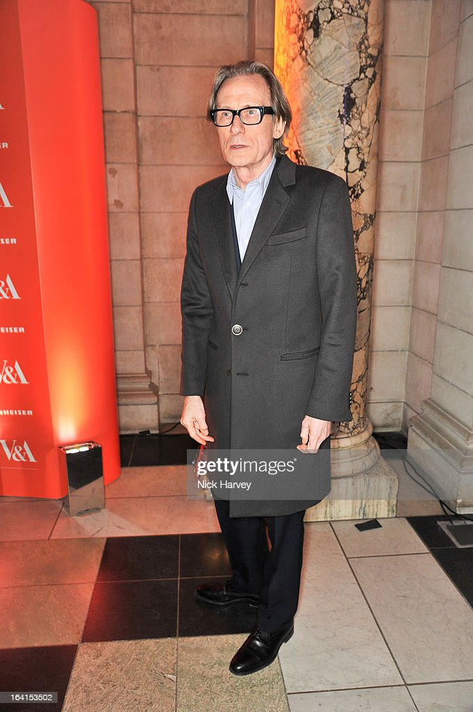 Bill Nighy attends the private view of the 'David Bowie Is' exhibition at the Victoria And Albert Museum at Victoria & Albert Museum on March 20, 2013 in London, England.