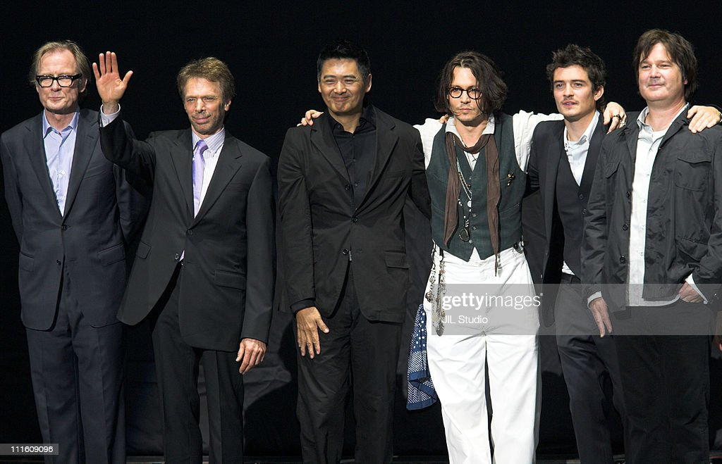 Bill Nighy Jerry Bruckheimer Producer YunFat Chow Johnny Depp Orlando Bloom and Gore Verbinski Director