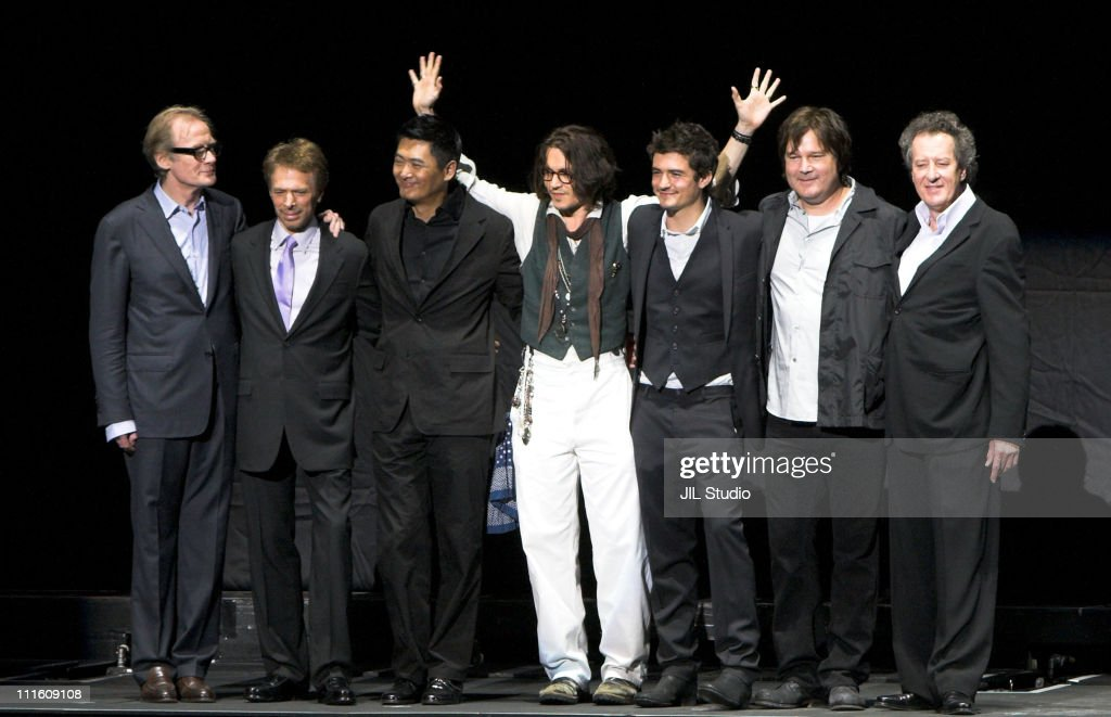 Bill Nighy Jerry Bruckheimer Producer YunFat Chow Johnny Depp Orlando Bloom Gore Verbinski Director and Geoffrey Rush