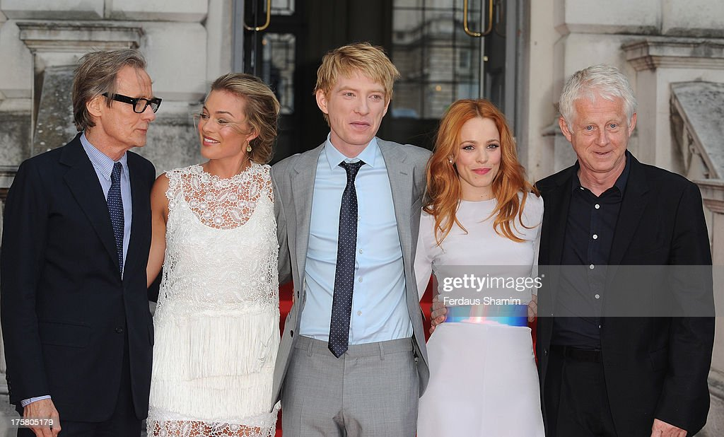 <a gi-track='captionPersonalityLinkClicked' href=/galleries/search?phrase=Bill+Nighy&family=editorial&specificpeople=201599 ng-click='$event.stopPropagation()'>Bill Nighy</a>, <a gi-track='captionPersonalityLinkClicked' href=/galleries/search?phrase=Margot+Robbie&family=editorial&specificpeople=5781742 ng-click='$event.stopPropagation()'>Margot Robbie</a>, <a gi-track='captionPersonalityLinkClicked' href=/galleries/search?phrase=Domhnall+Gleeson&family=editorial&specificpeople=653261 ng-click='$event.stopPropagation()'>Domhnall Gleeson</a> , <a gi-track='captionPersonalityLinkClicked' href=/galleries/search?phrase=Rachel+McAdams&family=editorial&specificpeople=212942 ng-click='$event.stopPropagation()'>Rachel McAdams</a> and <a gi-track='captionPersonalityLinkClicked' href=/galleries/search?phrase=Richard+Curtis+-+Screenwriter&family=editorial&specificpeople=209106 ng-click='$event.stopPropagation()'>Richard Curtis</a> attend the World Premiere of 'About Time' at Somerset House on August 8, 2013 in London, England.