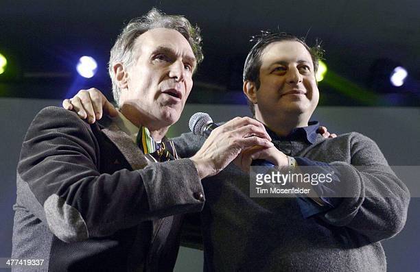 Bill Nye and Eugene Mirman perform as part of the I Love Fing Science Party at Stubbs BarBQ on March 8 2014 in Austin Texas