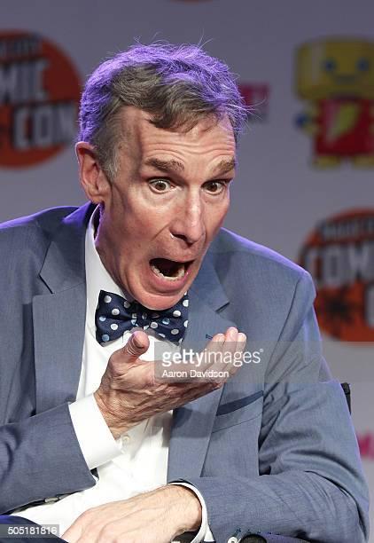 Bill Nye attends Magic City Comic Con on January 15 2016 in Miami Florida