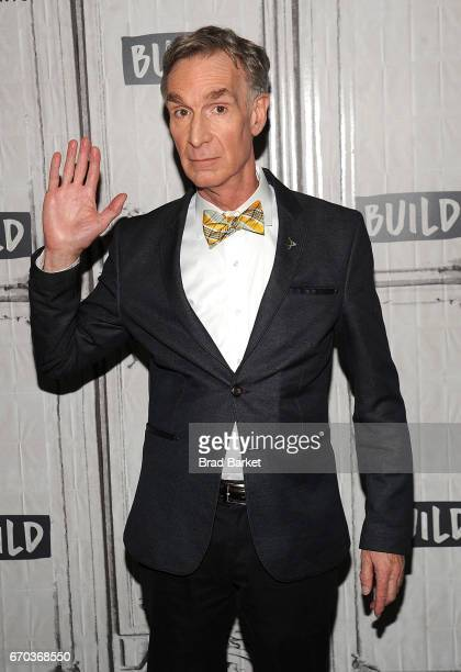 Bill Nye attends the Build Series to discuss 'Bill Saves The World' at Build Studio on April 19 2017 in New York City