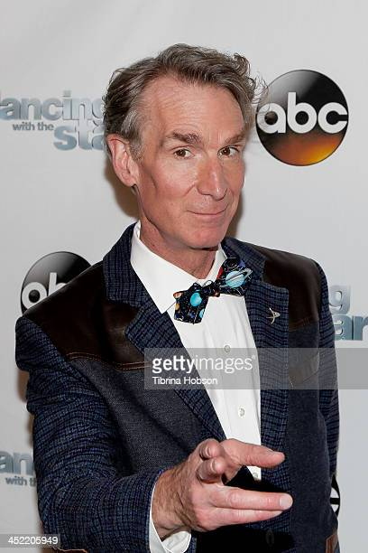 Bill Nye attends the 'Dancing With The Stars' wrap party at Sofitel Hotel on November 26 2013 in Los Angeles California