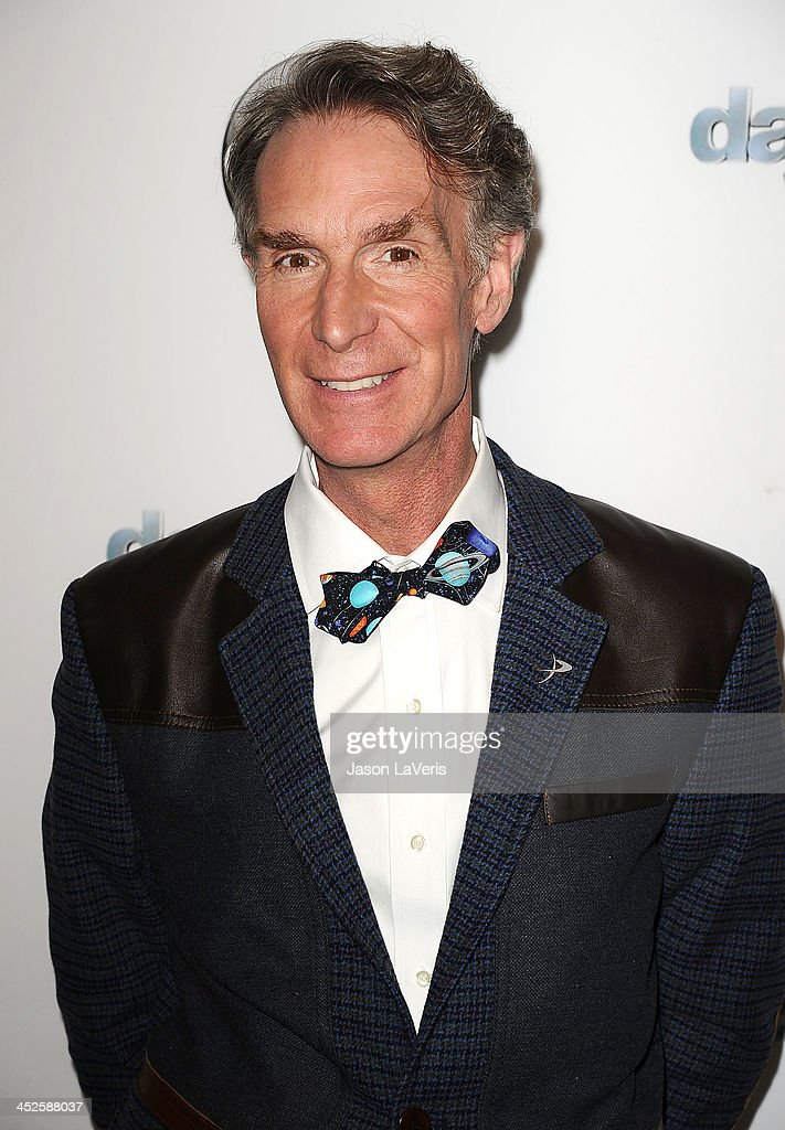 <a gi-track='captionPersonalityLinkClicked' href=/galleries/search?phrase=Bill+Nye&family=editorial&specificpeople=1016855 ng-click='$event.stopPropagation()'>Bill Nye</a> attends the 'Dancing With The Stars' wrap party at Sofitel Hotel on November 26, 2013 in Los Angeles, California.