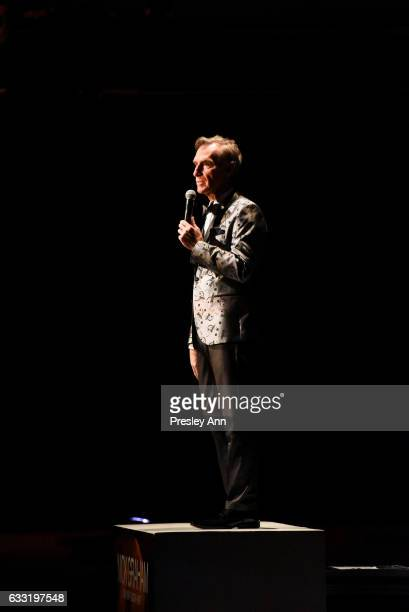 Bill Nye attends the Nick Graham Runway NYFW Men's at Skylight Clarkson North on January 31 2017 in New York City
