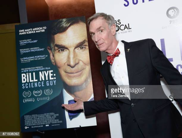 Bill Nye attends the premiere of PBS's 'Bill Nye Science Guy' at Westside Pavilion on November 7 2017 in Los Angeles California