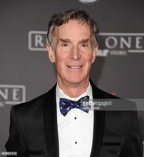 Bill Nye attends the premiere of 'Rogue One A Star Wars Story' at the Pantages Theatre on December 10 2016 in Hollywood California