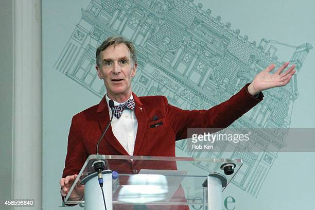 Bill Nye promotes his new book 'Undeniable Evolution And The Science Of Creation' at Barnes Noble Union Square on November 7 2014 in New York City