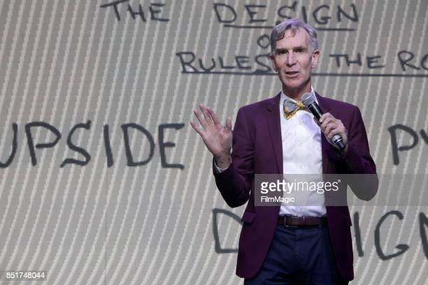 Bill Nye speaks on Fremont Stage during day 1 of the 2017 Life Is Beautiful Festival on September 22 2017 in Las Vegas Nevada