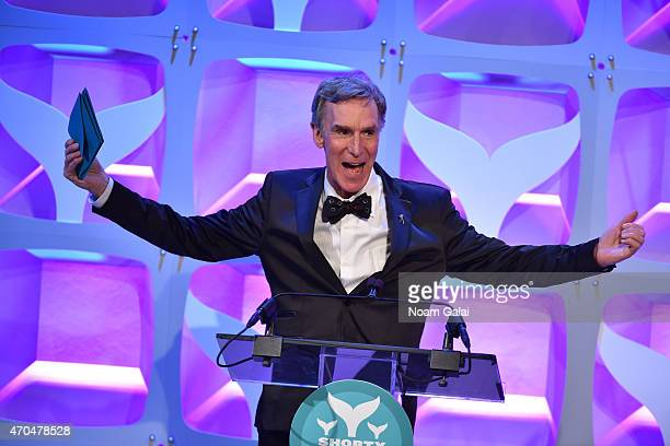 Bill Nye speaks onstage during the 7th Annual Shorty Awards on April 20 2015 in New York City