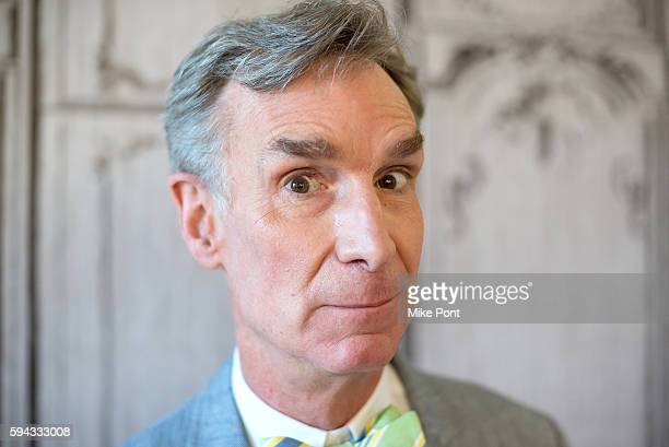 Bill Nye the Science Guy attends the AOL Build Speaker Series to discuss the #FindYourPark series with the National Park Service at AOL HQ on August...