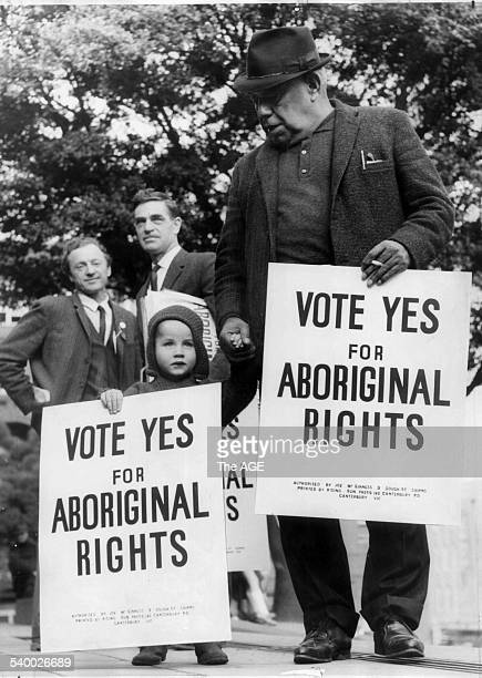 Bill Onus President of the Victorian Aborigines' Advancement League was the only Aboriginal to take part in the march for Aboriginal Rights...