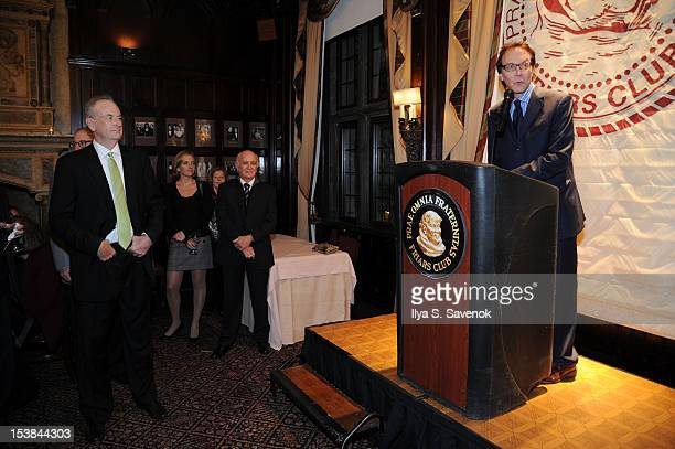 Bill O'Reilly and Alan Colmes attend the signing of the book 'Thank The Liberals For Saving America' at the New York Friars Club on October 9 2012 in...