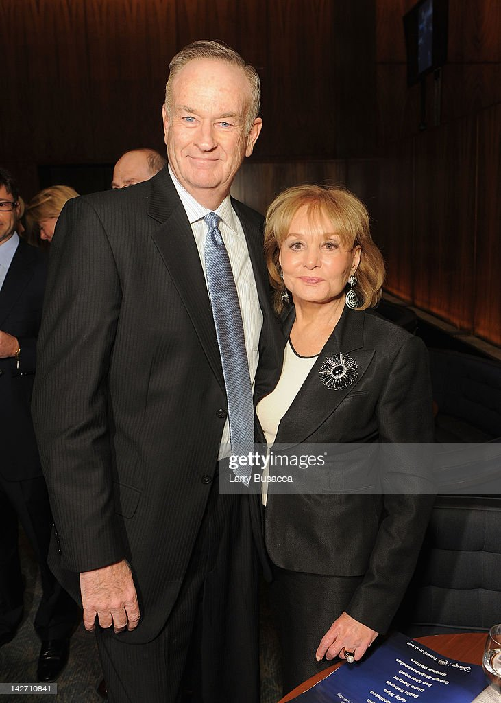 Bill O'Reilly and <a gi-track='captionPersonalityLinkClicked' href=/galleries/search?phrase=Barbara+Walters&family=editorial&specificpeople=201871 ng-click='$event.stopPropagation()'>Barbara Walters</a> attend the Hollywood Reporter celebration of 'The 35 Most Powerful People in Media' at the Four Season Grill Room on April 11, 2012 in New York City.