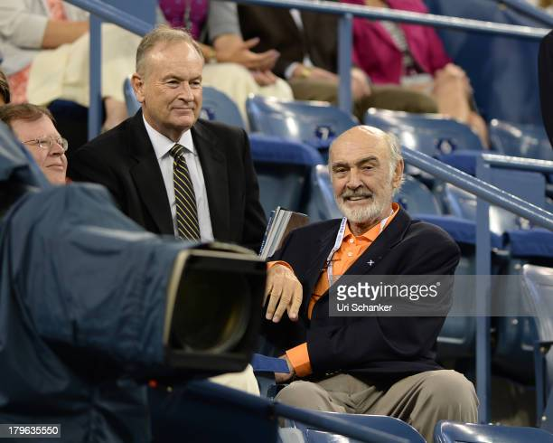 Bill O'Reilly and Sean Connery attend the 2013 US Open at USTA Billie Jean King National Tennis Center on September 5 2013 in New York City