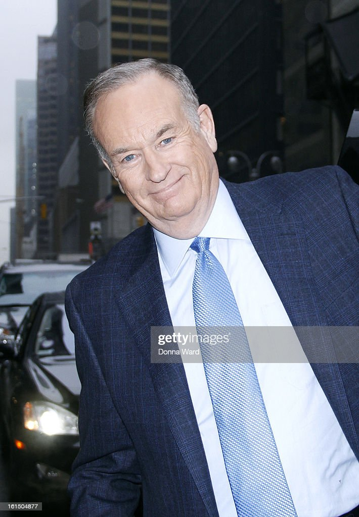 Bill O'Reilly arrives for 'The Late Show with David Letterman' at Ed Sullivan Theater on February 11, 2013 in New York City.