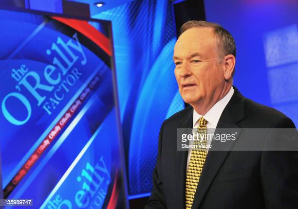 Bill O'Reilly host of FOX's 'The O'Reilly Factor' at FOX Studios on December 15 2011 in New York City