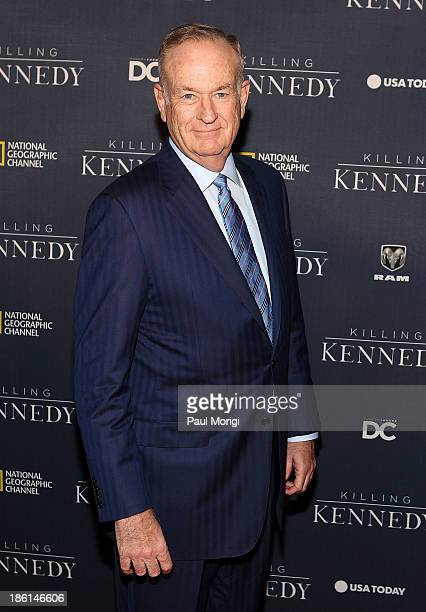Bill O'Reilly of the 'O'Reilly Factor' attends the National Geographic Channel's 'Killing Kennedy' World Premiere at The Newseum on October 28 2013...