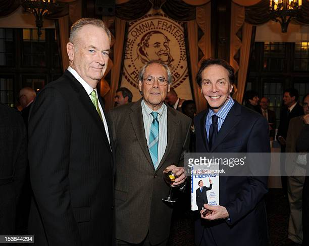 Bill O'Reilly Robert Klein and Alan Colmes attend the signing of the book 'Thank The Liberals For Saving America' at the New York Friars Club on...