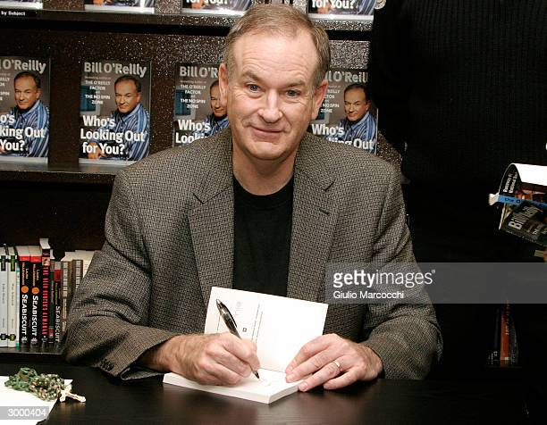 Bill O'Reilly sign copies of 'Who's Looking Out For You ' February 20 2004 at Barnes and Noble at the Grove in Los Angeles California