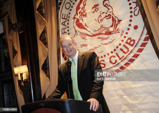 Bill O'Reilly speaks during the signing of the book 'Thank The Liberals For Saving America' at the New York Friars Club on October 9 2012 in New York...