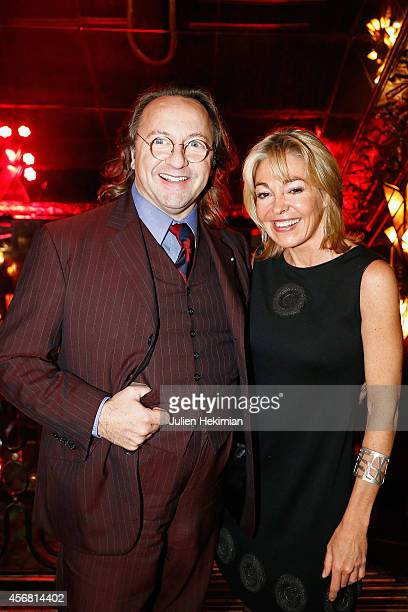 Bill Pallot and Beatrice Bernard attend the Anne de Bourbon Siciles book signing at Maxim's restaurant on October 7 2014 in Paris France