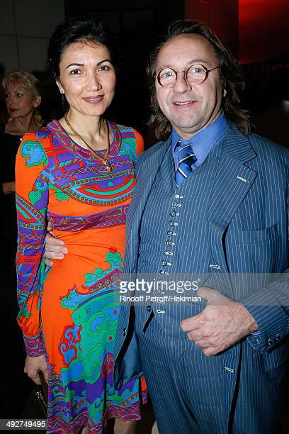 Bill Pallot and his companion Dina Daswani Lloyd attend the AROP Charity Gala Held at Opera Bastille on May 21 2014 in Paris France