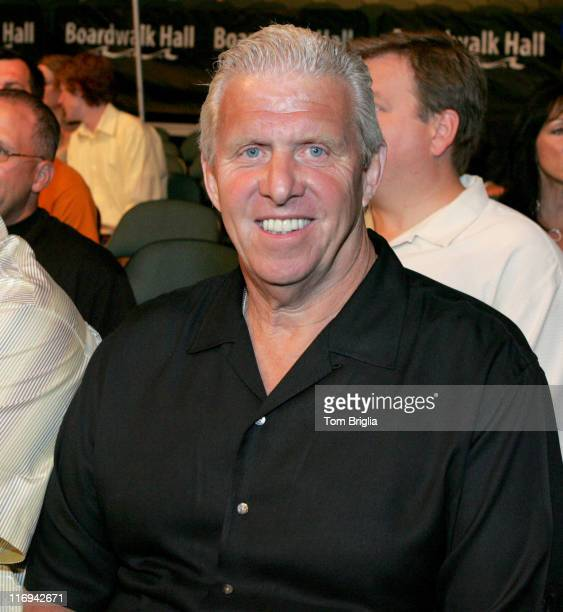 Bill Parcells head coach for the Dallas Cowboys during Celebrities Ringside at Floyd Mayweather vs Arturo Gatti Fight June 25 2005 at Boardwalk Hall...