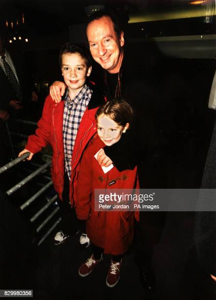 Bill Patteson with children Jake and Anna at the Gala celebrity opening performance of Wallace and Gromit 'A Grand Night Out' at the Sadler's...
