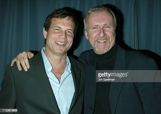 Bill Paxton and Director James Cameron during New York Premiere of ' Ghosts of the Abyss' at Loews Lincoln Square Imax Theater in New York City New...