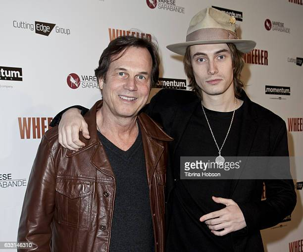 Bill Paxton and his son James Paxton attend the premiere of 'Wheeler' at the Vista Theatre on January 30 2017 in Los Angeles California