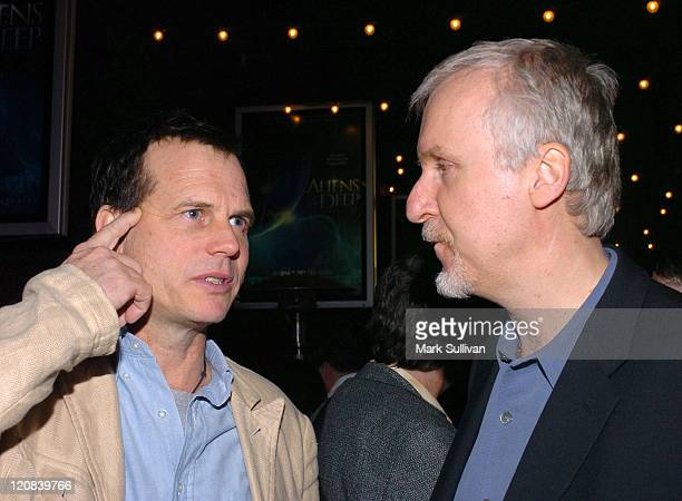 Bill Paxton and James Cameron codirector during 'Aliens of the Deep' Los Angeles Premiere After Party at Universal CityWalk in Universal City...