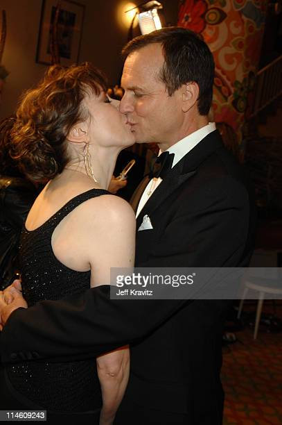 Bill Paxton and wife Louise Newbury during HBO 2007 Golden Globe After Party Red Carpet at Beverly Hilton in Los Angeles California United States