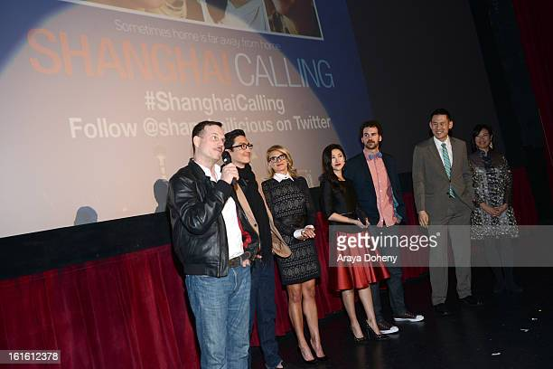 Bill Paxton Daniel Henney Eliza Coupe Zhu Zhu Sean Gallagher Daniel Hsia and Janet Yang attend the 'Shanghai Calling' Los Angeles premiere at TCL...