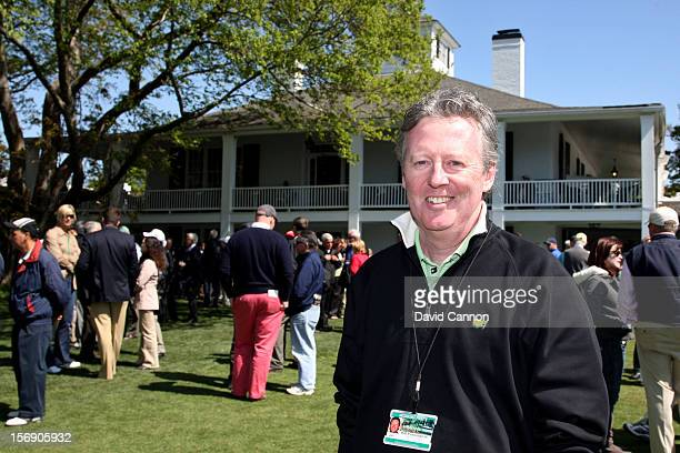 Bill Pennington of the New York Times poses for a portrait during a practice round prior to the 2009 Masters Tournament at Augusta National Golf Club...