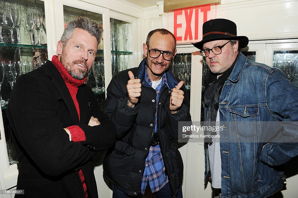 Bill Powers and photographers Terry Richardson and Todd Eberle attend GQ's The Style Guy party at The Beatrice Inn on November 19, 2012 in New York City.