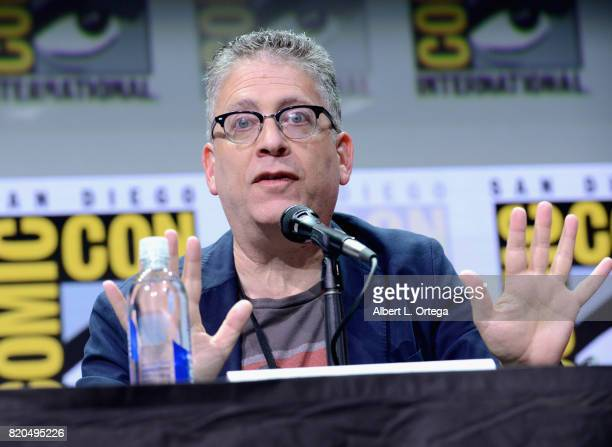 Bill Prady speaks onstage at ComicCon International 2017 'The Big Bang Theory' panel at San Diego Convention Center on July 21 2017 in San Diego...