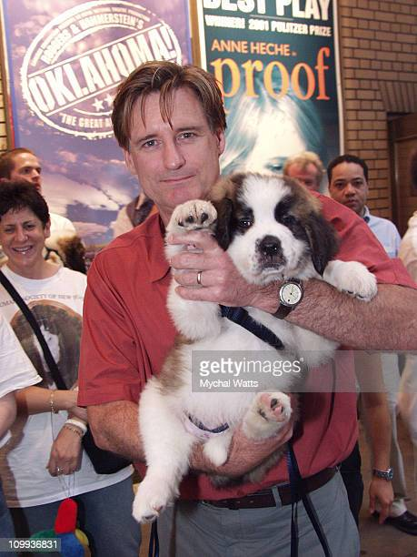 Bill Pullman during Stars at Broadway Barks 4 Pet Adoption Event at Schubert Alley in New York City New York United States