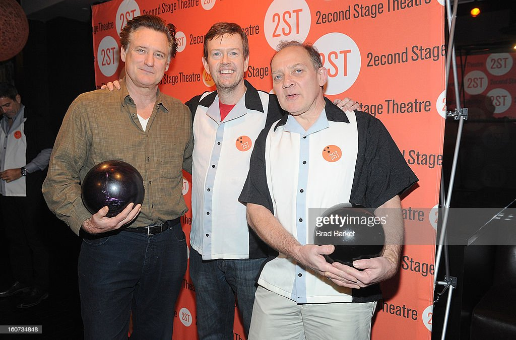 Bill Pullman, Dylan Baker and Zach Grenier attend the Second Stage Theatre's 26th Annual All-Star Bowling Classic at Lucky Strike on February 04, 2013 in New York City.