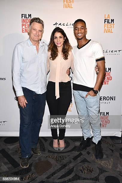 Bill Pullman Roya Rastegar and Jessie T Usher attend the 2016 Los Angeles Film Festival 'Independence Day' special screening at FIGat7th on June 4...