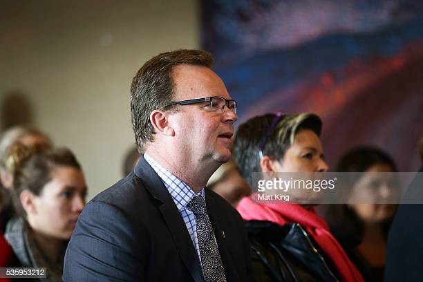 Bill Pulver looks on during the ARU Reconciliation Action Plan Launch at the National Centre for Indigenous Excellence on May 31 2016 in Sydney...