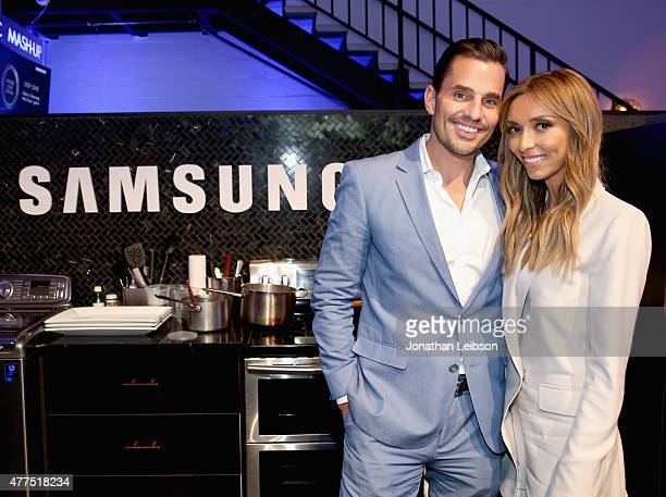 Bill Rancic and Giuliana Rancic attend the Cooking For Two Home Appliance Event at Samsung Studio LA at on June 17 2015 in Los Angeles California