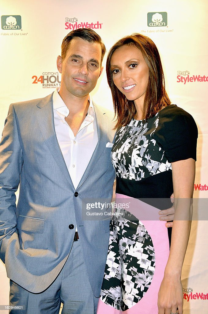 <a gi-track='captionPersonalityLinkClicked' href=/galleries/search?phrase=Bill+Rancic&family=editorial&specificpeople=204496 ng-click='$event.stopPropagation()'>Bill Rancic</a> and <a gi-track='captionPersonalityLinkClicked' href=/galleries/search?phrase=Giuliana+Rancic&family=editorial&specificpeople=556124 ng-click='$event.stopPropagation()'>Giuliana Rancic</a> attends Cotton's 24 Hour Runway Show on South Beach on March 1, 2013 in Miami Beach, Florida.