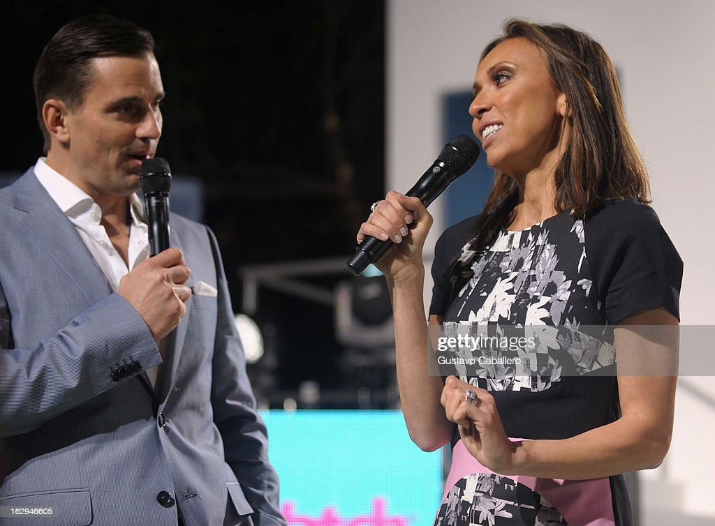 Bill Rancic and Giuliana Rancic attends Cotton's 24 Hour Runway Show on South Beach on March 1, 2013 in Miami Beach, Florida.