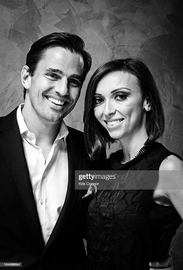 Bill Rancic and Giuliana Rancic pose for a portrait at the 2013 Columbus Day luncheon at the Embassy of Italy on October 14, 2013 in Washington, DC.