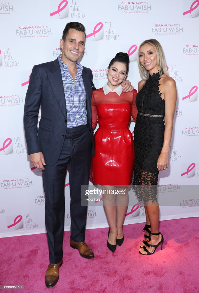 Bill Rancic, Krysta Rodriguez and Giuliana Rancic attend The Pink Agenda 10th Annual Gala at Three Sixty Degrees on October 5, 2017 in New York City.
