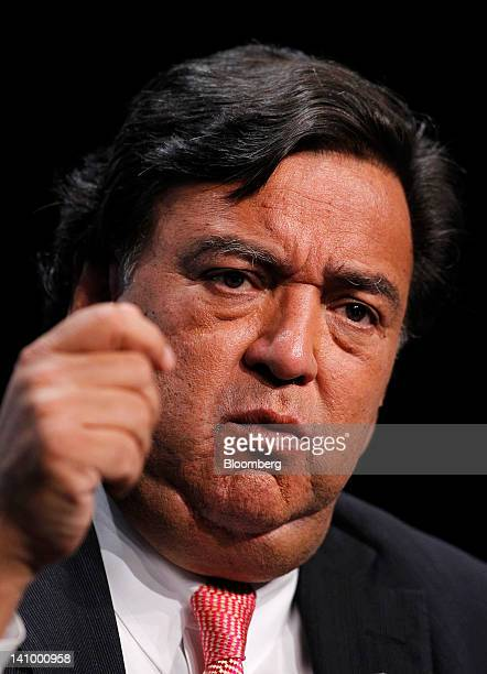 Bill Richardson former governor of New Mexico speaks at the 2012 CERAWEEK conference in Houston Texas US on Friday March 9 2012 CERAWEEK a gathering...