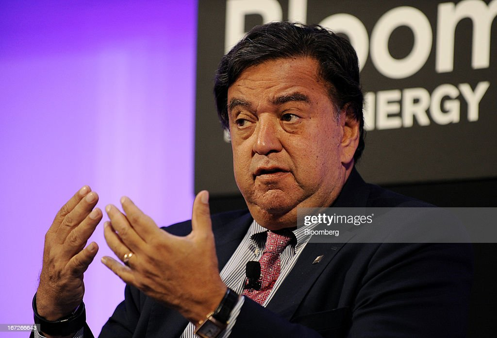 <a gi-track='captionPersonalityLinkClicked' href=/galleries/search?phrase=Bill+Richardson&family=editorial&specificpeople=213321 ng-click='$event.stopPropagation()'>Bill Richardson</a>, former U.S. energy secretary and former governor of New Mexico, speaks during the 'Global Plenary: US Competitiveness' panel discussion at the Bloomberg New Energy Finance (BNEF) summit in New York, U.S., on Tuesday, April 23, 2013. The BNEF Summit, now in its sixth year, gathers political and thought leaders to explore key themes that are driving the agenda of the energy industry. Photographer: Peter Foley/Bloomberg via Getty Images